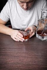 Drunk man in bar