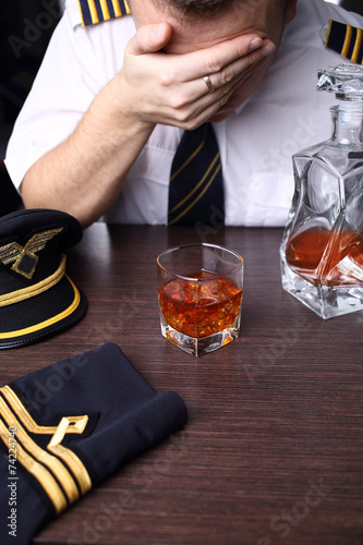 Drunk crying pilot with problems - 74224740