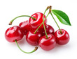 Cherry. Group of berries isolated on white