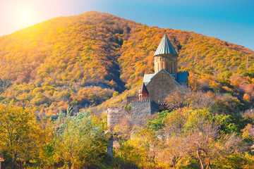 Ancient Fortress Anauri in Georgia country