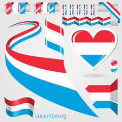 Set of Vector Flag of Luxembourg