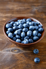 Sweet blueberries in a bowl