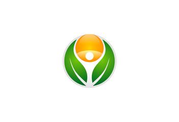 eco health nature symbol vector