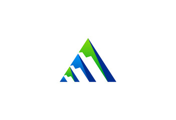 finance business abstract triangle logo