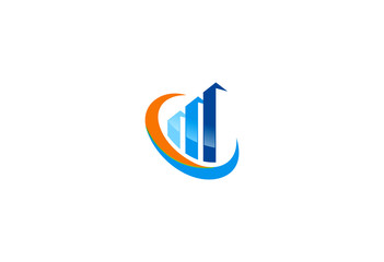 finance business chart exchange logo