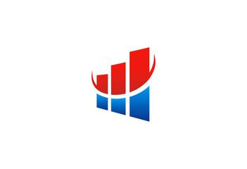 finance graph grow vector logo
