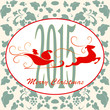 Merry Christmas background, vintage, vector illustration