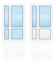 plastic transparent doors vector illustration