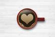 canvas print picture - Kaffeetasse mit Herz