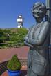 Leinwanddruck Bild - Denkmal von Lale Anderson auf Langeoog
