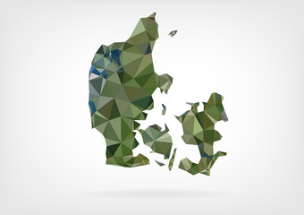 Low Poly Map of Denmark