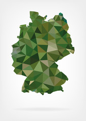 Low Poly Map of Germany