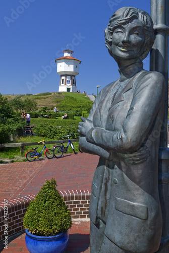 Leinwanddruck Bild Denkmal von Lale Anderson auf Langeoog