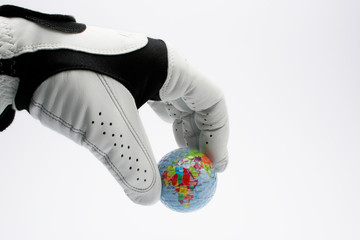 Golf Glove with ball