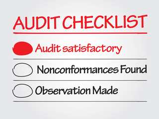 Hand drawn Audit checklist vector business concept