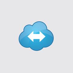Blue cloud 2 side arrow icon