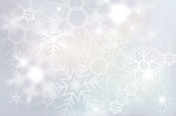 Christmas background with abstract snowflakes