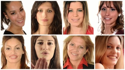 portraits of women montage