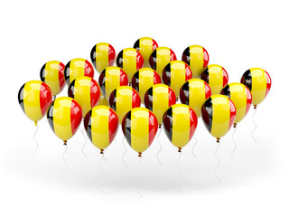 Balloons with flag of belgium