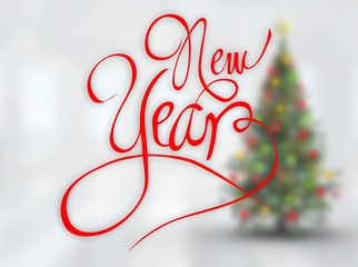 Composite image of new year message