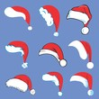 Set of Santa Hats