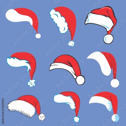 Set of Santa Hats - 74228936