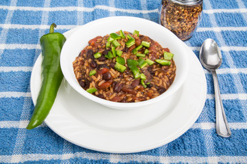 Red Beans and Rice with Poblano Chili