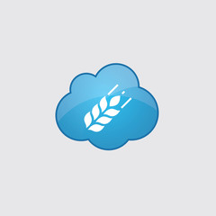 Blue cloud Agriculture icon.