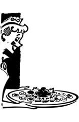 Waitress Serving Hors D'oeuvres