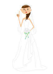 女性 ウェディングドレス ポーズ