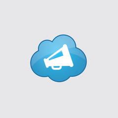 Blue cloud speaker icon.