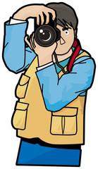 男性カメラマン