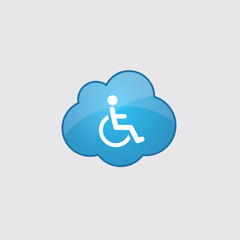 Blue cloud cripple icon.