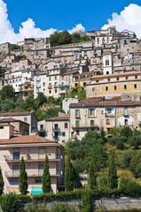 Panoramic view of Padula. Campania. Italy.
