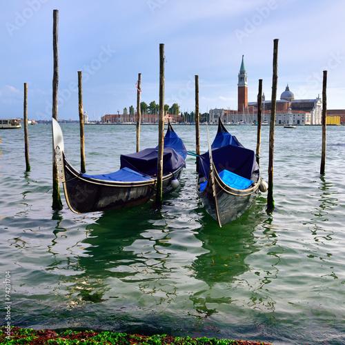 Deurstickers Gondolas Venice