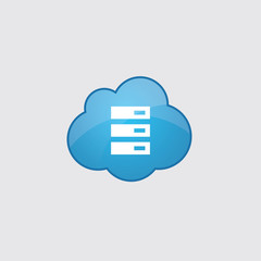 Blue server icon.