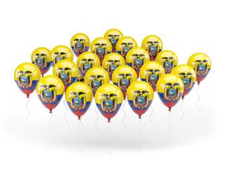 Balloons with flag of ecuador