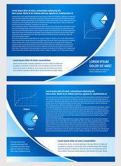 brochure folder info diagram design vector blue