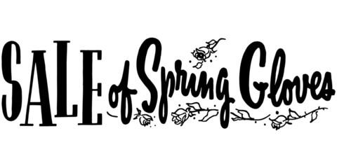 Sale Of Spring Gloves