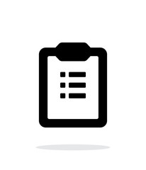 To-do list simple icon on white background.