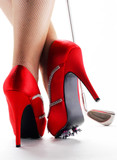 Golf Lady Red shoes