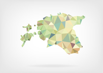 Low Poly Map of Estonia