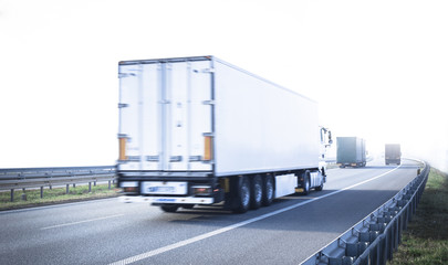 Lorry on the highway