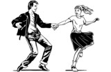 Fototapety Retro Swing Dancing