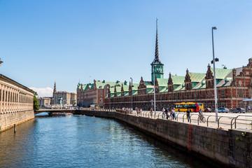 Former stock exchange building  in Copenhagen, Denmark