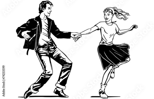 Retro Swing Dancing - 74233599