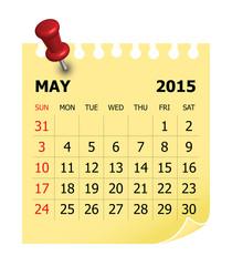 2015 Calendar- May