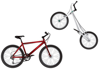BMX bike, Mountain bike, Extreme Sport Bicycles