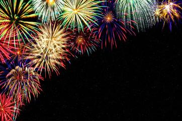 Feuerwerk mit Textfreiraum