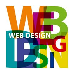 Vector web design. Broken text